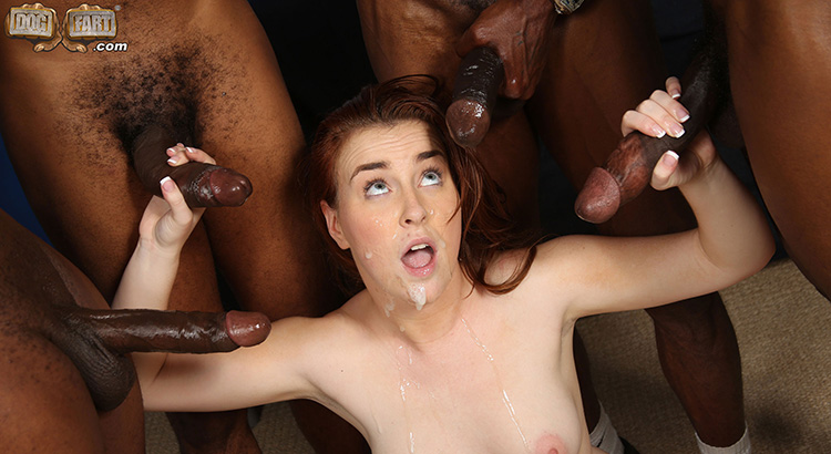 Abigaile johnson gets gangbanged by black cocks 7