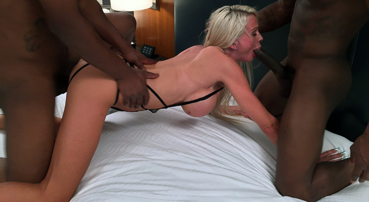 Blacks onblonds interracial