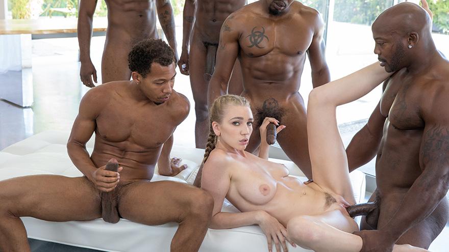 Blonde meets black guys interracial gangbang - 2 part 3